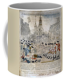 Coffee Mug featuring the painting Boston Massacre by Celestial Images