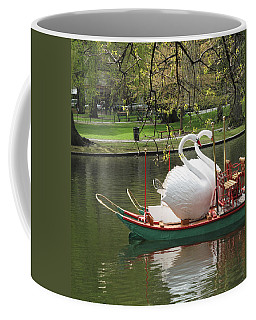 Coffee Mug featuring the photograph Boston Swan Boats by Barbara McDevitt
