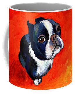 Boston Terrier Dog Painting Prints Coffee Mug