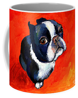 Boston Terrier Dog Painting Prints Coffee Mug