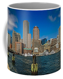 Boston Waterfront Skyline Coffee Mug
