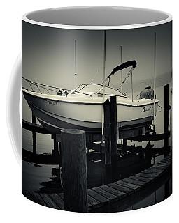 Boston Whaler In The Fog Coffee Mug