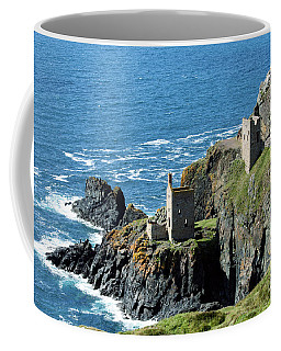 Botallack Crown Engine Houses Cornwall Coffee Mug by Terri Waters