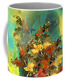 Coffee Mug featuring the digital art Botanical Fantasy 090914 by David Lane