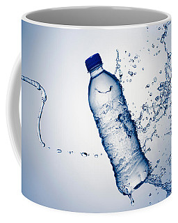 Bottle Water And Splash Coffee Mug