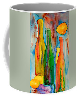 Bottles And Lemons Coffee Mug by Beverley Harper Tinsley