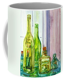 Bottles - Shades Of Green Coffee Mug