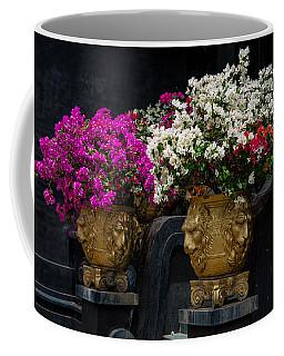Bougainvillea At The Entrance Of Golden Temple In Dambulla  Coffee Mug