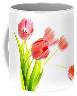 Tulips Flower Bouque In Digital Watercolor Coffee Mug