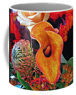Bouquet Of Cut Flowers Orange Calla Lily Coffee Mug