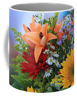 Coffee Mug featuring the photograph Bouquet Of Flowers by Geraldine DeBoer