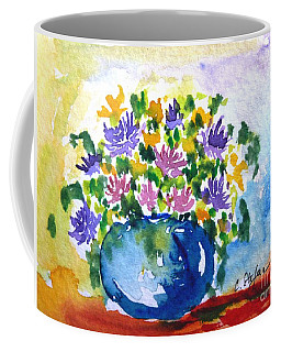 Bouquet Of Flowers In A Vase Coffee Mug