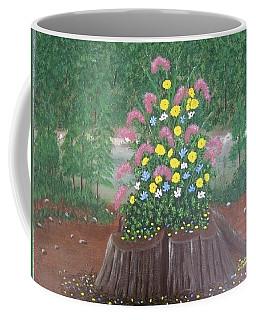 Bouquet On A Stump Coffee Mug