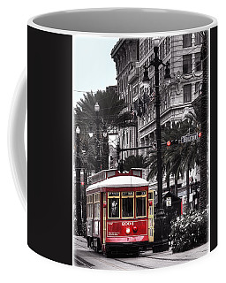 Bourbon And Canal Trolley Cropped Coffee Mug by Tammy Wetzel
