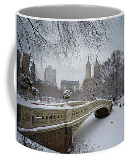 Bow Bridge Central Park In Winter  Coffee Mug