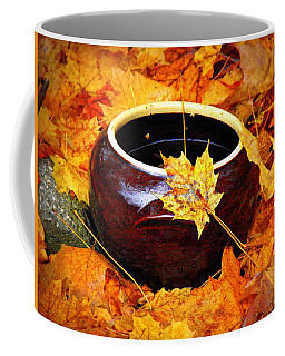 Coffee Mug featuring the photograph Bowl And Leaves by Rodney Lee Williams