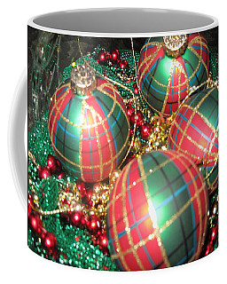Coffee Mug featuring the photograph Bowl Of Christmas Colors by Barbara McDevitt