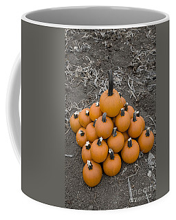 Coffee Mug featuring the photograph Bowling For Pumpkins by David Millenheft