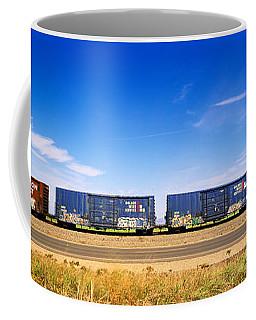 Boxcars Railroad Ca Coffee Mug