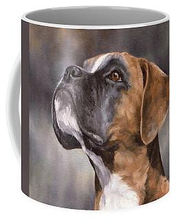 Boxer Painting Coffee Mug by Rachel Stribbling