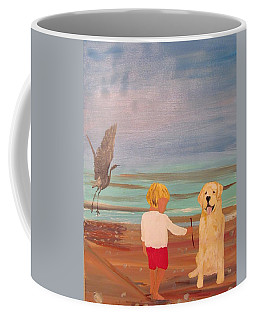 Boy And Dog Coffee Mug