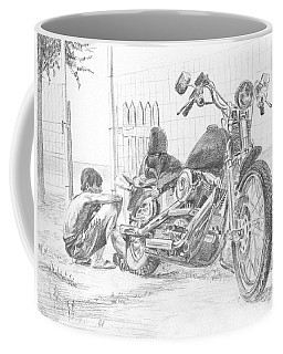 Boy And Motorcycle Coffee Mug