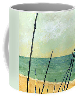 Branches On The Beach - Oil Coffee Mug