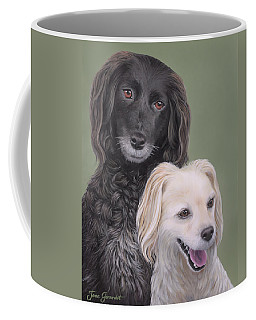 Coffee Mug featuring the painting Brea And Randy by Jane Girardot