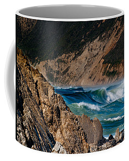 Breakers At Pt Reyes Coffee Mug by Bill Gallagher