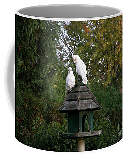Breakfast In The Garden Coffee Mug by Bev Conover