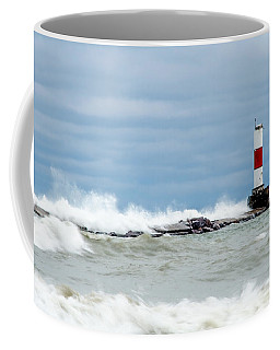 Coffee Mug featuring the photograph Breaking by Steven Santamour
