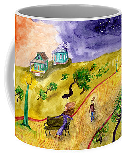 Breezy Dusk In The Park Coffee Mug