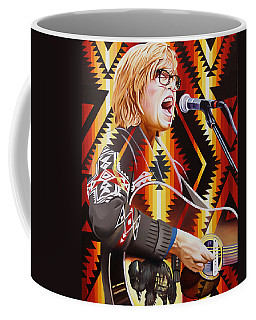Coffee Mug featuring the painting Brett Dennen by Joshua Morton