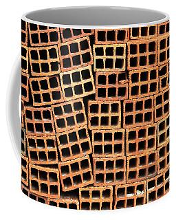 Brick Abstract Coffee Mug by Vivian Christopher