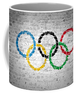 Brick Wall Olympic Movement Coffee Mug