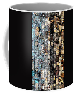 Coffee Mug featuring the photograph Bricks Of Turquoise And Gold by Stephanie Grant
