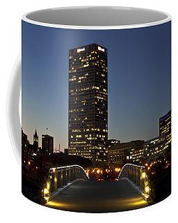 Coffee Mug featuring the photograph Bridge Into Milwaukee by Deborah Klubertanz