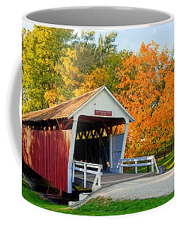 Bridge Of Madison County Coffee Mug by Sennie Pierson