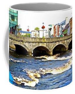 Coffee Mug featuring the photograph Bridge On The Garavogue by Charlie and Norma Brock