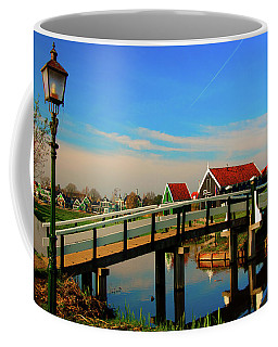 Bridge Over Calm Waters Coffee Mug by Jonah  Anderson
