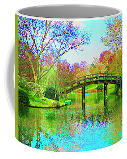 Bridge Over Lake In Spring Coffee Mug