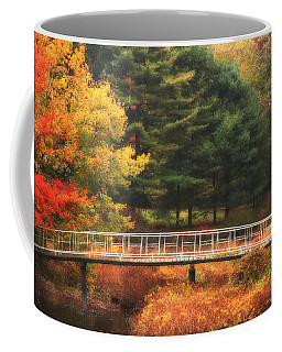 Bridge To Autumn Coffee Mug by Karol Livote