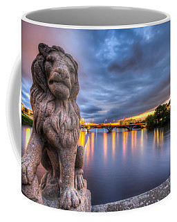 Bridge To Czech Village In Cedar Rapids At Sunset Coffee Mug
