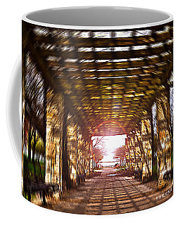 Coffee Mug featuring the photograph Bridge To The Light From The Series The Imprint Of Man In Nature by Verana Stark