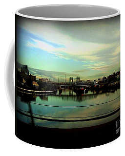 Bridge With White Clouds Coffee Mug by Miriam Danar