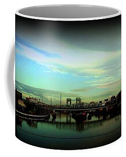 Bridge With White Clouds Vignette Coffee Mug by Miriam Danar