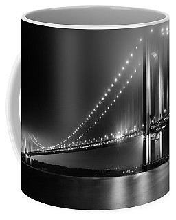 Bridging Verrazano Narrows Coffee Mug by Mihai Andritoiu
