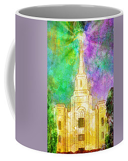 Coffee Mug featuring the painting The Heavens Were Opened by Greg Collins