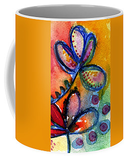 Bright Abstract Flowers Coffee Mug