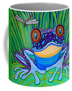 Bright Eyed Frog Coffee Mug by Nick Gustafson